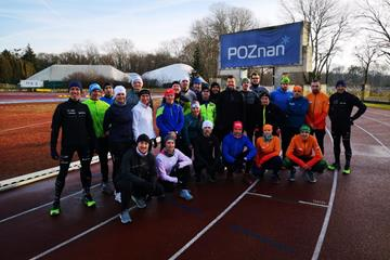 Participants in the first Gdynia 2020 mass race training session in Poznan (LOC)