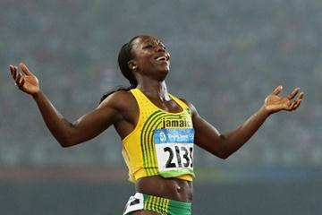 Veronica Campbell-Brown defends her Olympic 200m title (Getty Images)