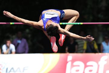 Hanna Kasyanova in the heptathlon high jump at the TNT Express meeting in Kladno (Jan Kucharcik)