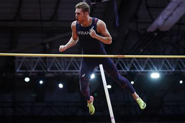 Kevin Mayer in the heptathlon pole vault (Getty Images)