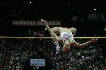 Blanka Vlasic tops 2.03m before a packed house at home in Split (Denis Boban)