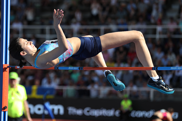 Maria Lasitskene wins the high jump at the IAAF Diamond League meeting in Stockholm (Giancarlo Colombo)