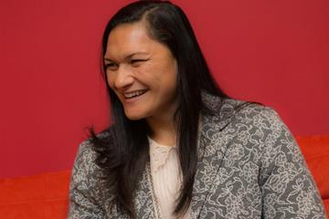 Valerie Adams talks to the press in Monaco (Philippe Fitte)