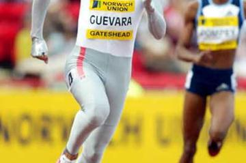 Ana Guevara running in a Freeman style bodysuit in Gateshead (Getty Images)