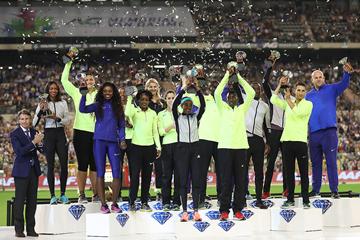 2016 Diamond Race winners from the IAAF Diamond League final in Brussels (Giancarlo Colombo)
