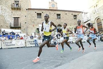 Wilson Kiprop on his way to victory at the 2013 Giro Podistico di Castelbuono (Organisers)