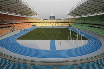 Daegu Stadium with its new Mondo track (IAAF.org)
