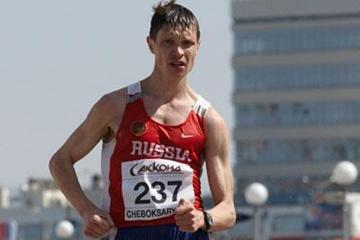 Denis Nizhegorodov of Russia on his way to winning the Men's 50km race (Getty Images)