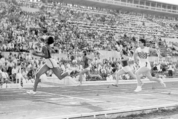 Wilma Rudolph wins the 100m at the 1960 Olympic Games in Rome (Getty Images)