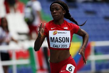 USA's Symone Mason in the 400m at the IAAF World Youth Championships Cali 2015 (Getty Images)