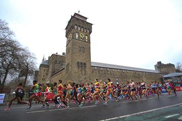 The early stages of the women's race at the IAAF/Cardiff University World Half Marathon Championships Cardiff 2016 (Getty Images)