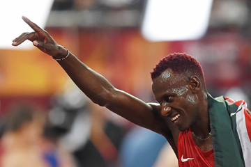 Caleb Ndiku after the 5000m final at the IAAF World Championships, Beijing 2015 (AFP / Getty Images)