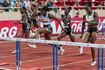 Convincing 100m hurdles victory for Kendra Harrison at the IAAF Diamond League meeting in Monaco (Philippe Fitte)