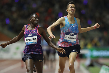 Conseslus Kipruto wins the steeplechase at the IAAF Diamond League final in Brussels (Giancarlo Colombo)