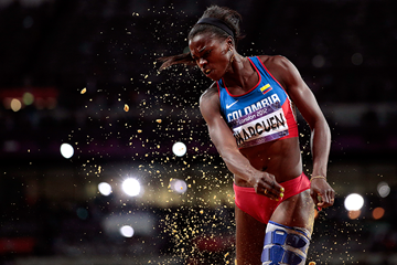 Caterine Ibarguen in the triple jump at the London 2012 Olympic Games (Getty Images)