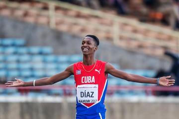 Jordan Diaz in the triple jump at the IAAF World U18 Championships Nairobi 2017 (Getty Images)