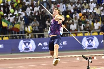 Thomas Rohler moves up to No.2 on the world all-time javelin list after his 93.90m effort at the IAAF Diamond League meeting in Doha (Hasse Sjogren/Jiro Mochizuki)