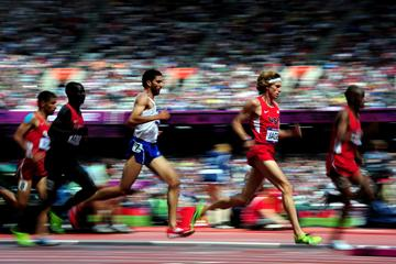 Evan Jager of the United States competes in the men's 3000m Steeplechase heats at the London 2012 Olympic Games (Getty Images)