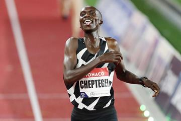 Joshua Cheptegei sets a world 5000m record at the Diamond League meeting in Monaco (Getty Images)