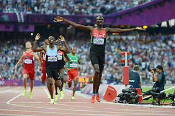 David Rudisha wins the 800m at the London 2012 Olympic Games (AFP / Getty Images)