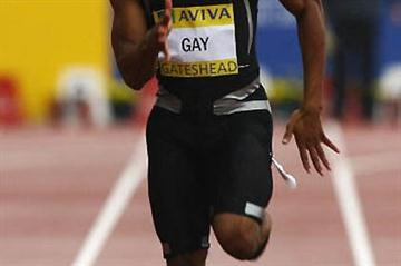 Tyson Gay running in Gateshead (Getty Images)