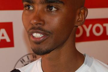 Mo Farah in Addis Ababa in November 2008 (Nahom Tesfaye)