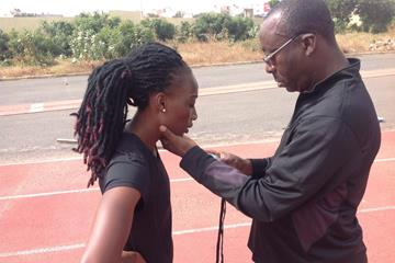Marie Josée Ta Lou training at the HPTC Dakar (HPTC Dakar)