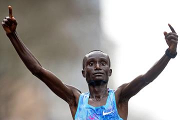 Kenneth Kipkemoi wins in Rotterdam (AFP/Getty Images)