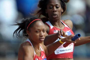 Again, a busy Penn appearance for Allyson Felix (Kirby Lee)