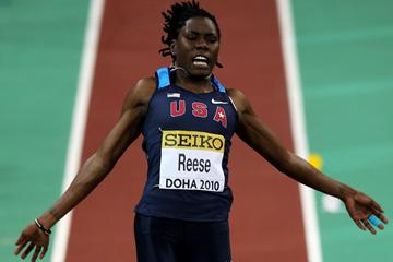 Brittney Reese (USA) competes in the Women's Long Jump (Getty Images)