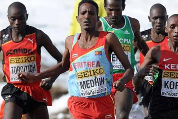 Teklemariam Medhin in the senior men's race at the IAAF World Cross Country Championships (Getty Images)