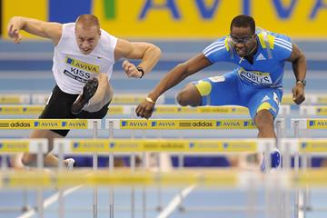 Dayron Robles and Daniel Kiss in the 60m hurdles (Getty Images)