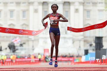 Brigid Kosgei wins the London Marathon (Getty Images)