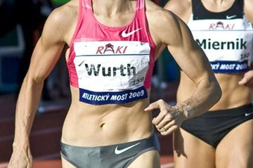 Christine Wurth-Thomas running the 1000m in Dubnica, Slovakia (c)