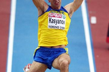Oleksiy Kasyanov of Ukraine, the early leader of the men's heptathlon (Getty Images)