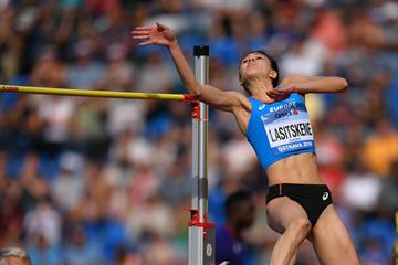 Mariya Lasitskene leaps to the Continental Cup title in Ostrava (Getty Images)