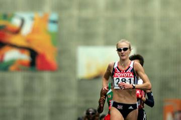 Paula Radcliffe of Great Britain in action in the women's marathon (Getty Images)