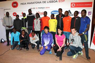 The elite field of the 2014 EDP Lisbon Half Marathon (Victah Sailer / organisers)