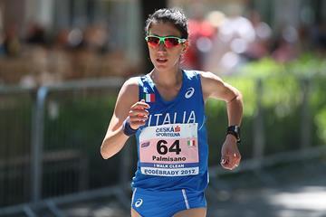 Italy's Antonella Palmisano in Podebrady (FIDAL/Giancarlo Colombo)
