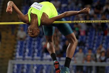 Qatar's Mutaz Essa Barshim, winner of the high jump (Getty Images)