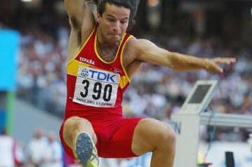 Yago Lamela of Spain qualifies for the long jump final (Getty Images)