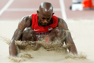 Jeff Henderson in the long jump at the IAAF World Championships Beijing 2015 (AFP / Getty Images)