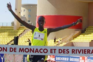 Benjamin Kimutai Kimwole just before his 2:11:01 course record in Monaco (Nicolas Cicciarello)