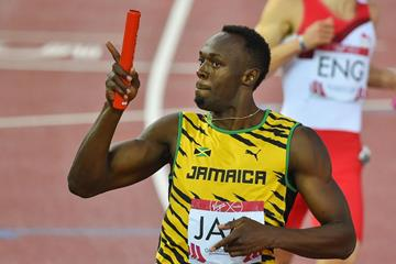 Usain Bolt in the 4x100m relay at the 2014 Commonwealth Games (Getty Images)