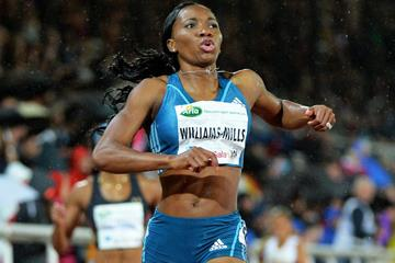 Novlene Williams-Mills wins the 400m at the IAAF Diamond League meeting in Stockholm (DECA Text & Bild)