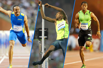 Aries Merritt, Mutaz Essa Barshim and Yohan Blake in action at the IAAF Diamond League meeting in Brussels (Jiro Mochizuki / Gladys Chai von der Laage)