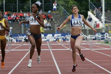 Dalilah Muhammad of USA wins the 400m Hurdles final (Getty Images)