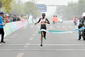 Perine Nengampi wins the Yangzhou Jianzhen International Half Marathon (Organisers)