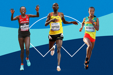 Peres Jepchirchir, Joshua Cheptegei and Netsanet Gudeta - contenders at the World Athletics Half Marathon Championships Gdynia 2020 (Getty Images)