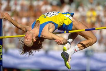 Patrik Sjoberg at the 1995 IAAF World Championships (Getty Images)